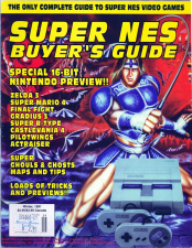 Super NES Buyers Guide Magazine Cover