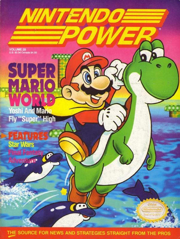 Nintendo Power Issue 28 was released September 1991 and features Super Mario World on the cover.