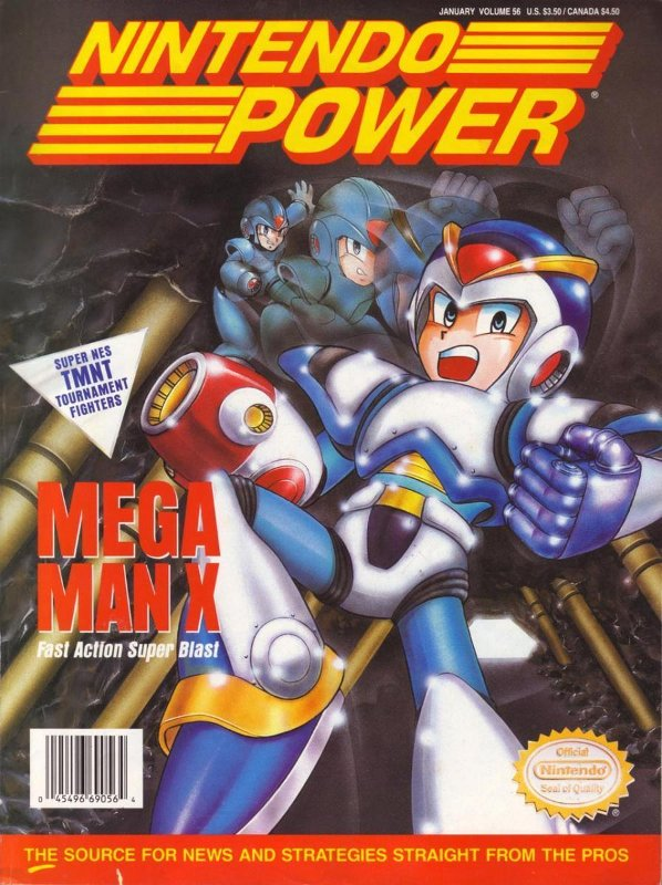 Nintendo Power Issue 56 was released January 1994 and features Mega Man X on the cover.